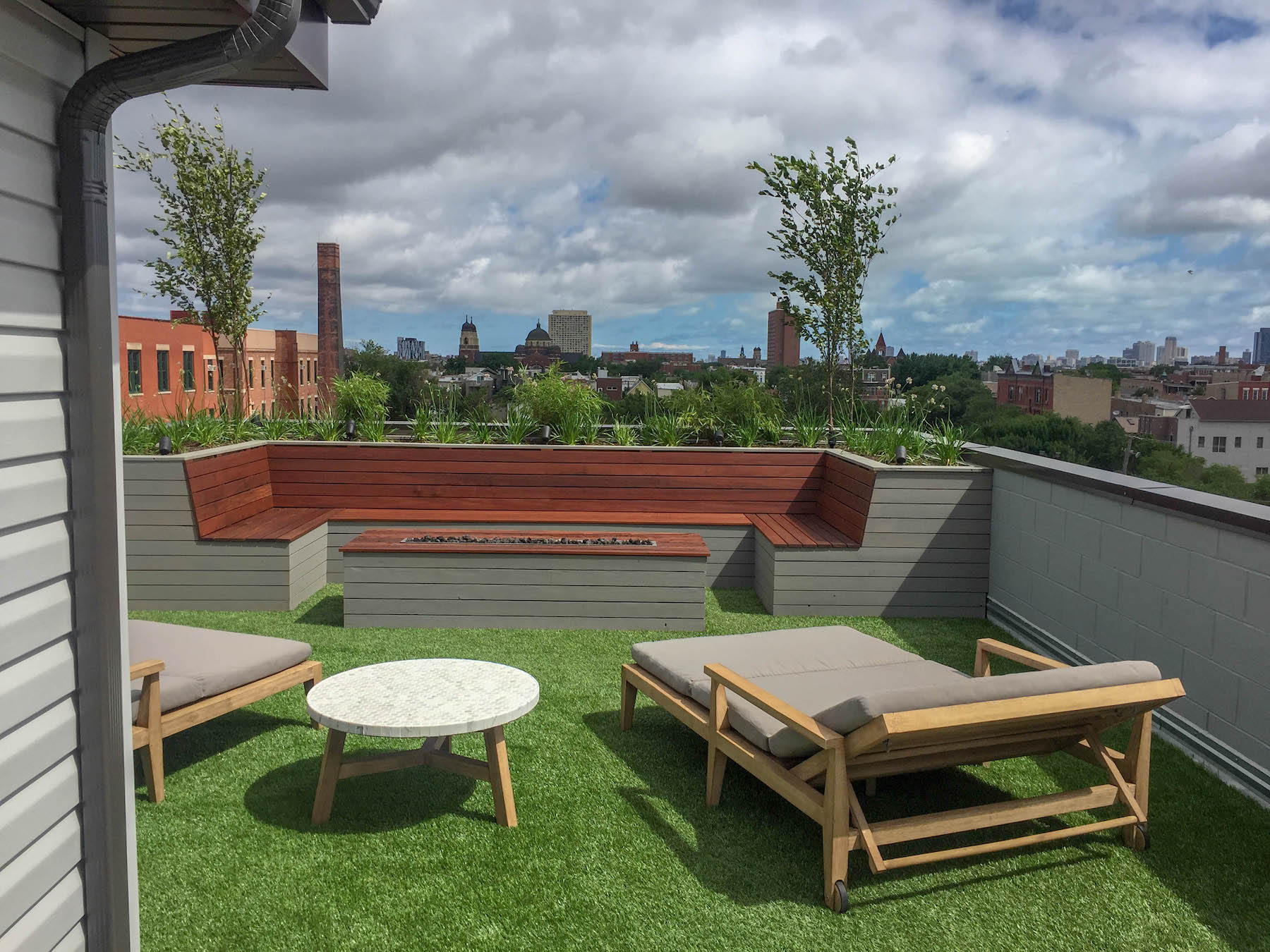 Rooftop Terrace Outdoor Kitchen Dining Denver CO