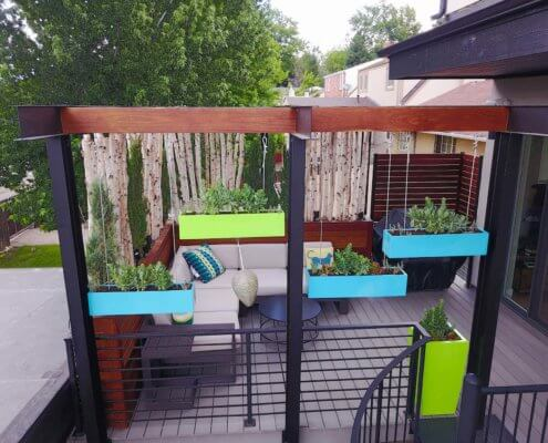 Pergola With Hanging Planters