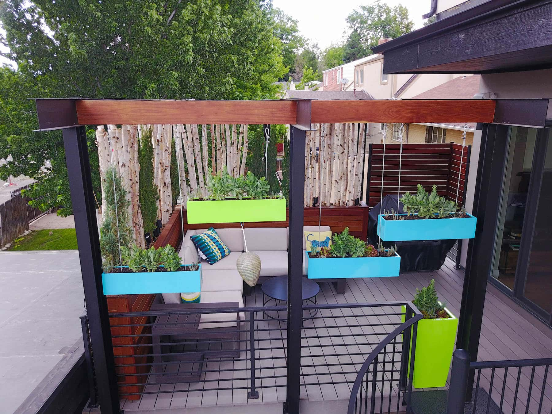 Pergola With Hanging Planters