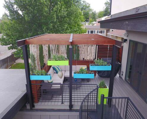 Deck With Pergola & Flower Boxes