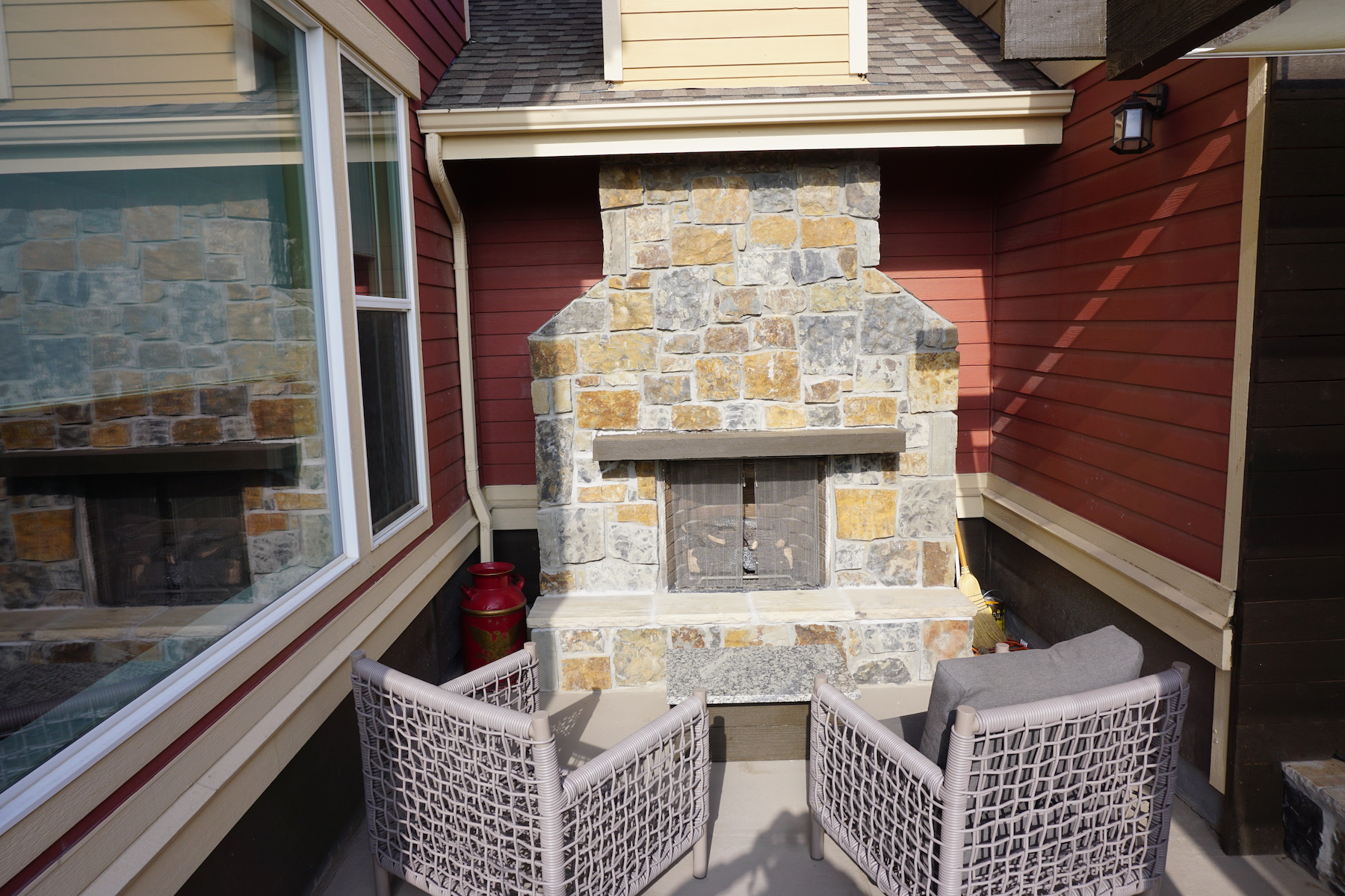 Outdoor Fire Place Patio Remodel Denver CO