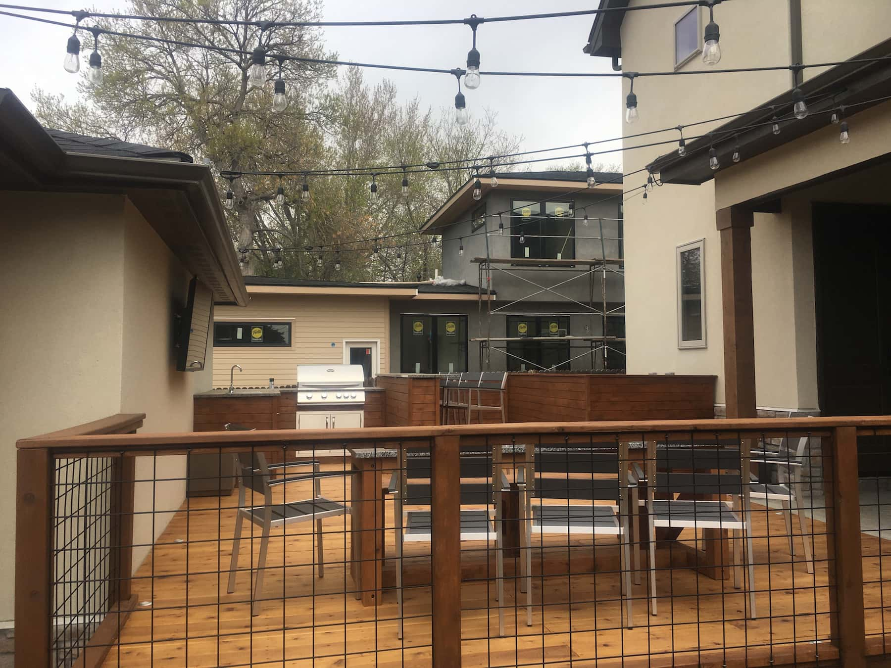 outdoor kitchen deck railing lights outdoor dining cherry creek denver co