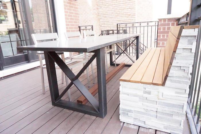 Custom Bench Seating - Custom Outdoor Furniture - Denver, CO - Roof Decks, Pergolas, And