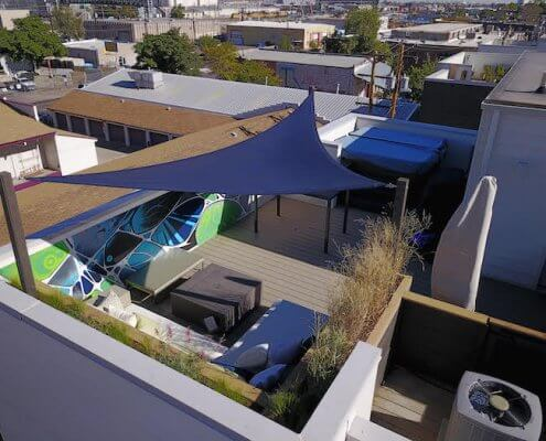 Rooftop Deck With Canopy