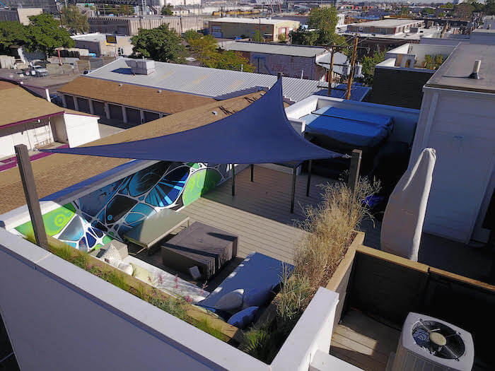 Rooftop Deck Canopy Mural Rino Denver CO