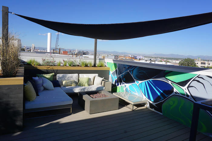 Custom Furniture Rooftop Deck Planters Mural Canopy Rino Denver Co