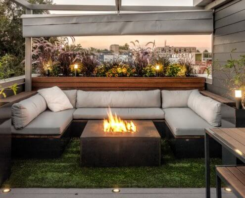 Built-In Furniture With Fire Pit