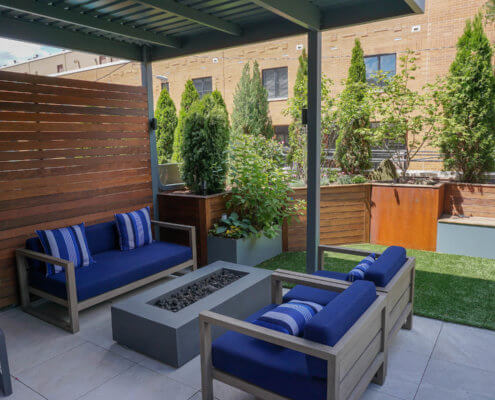 Custom Furniture and Fire Pit