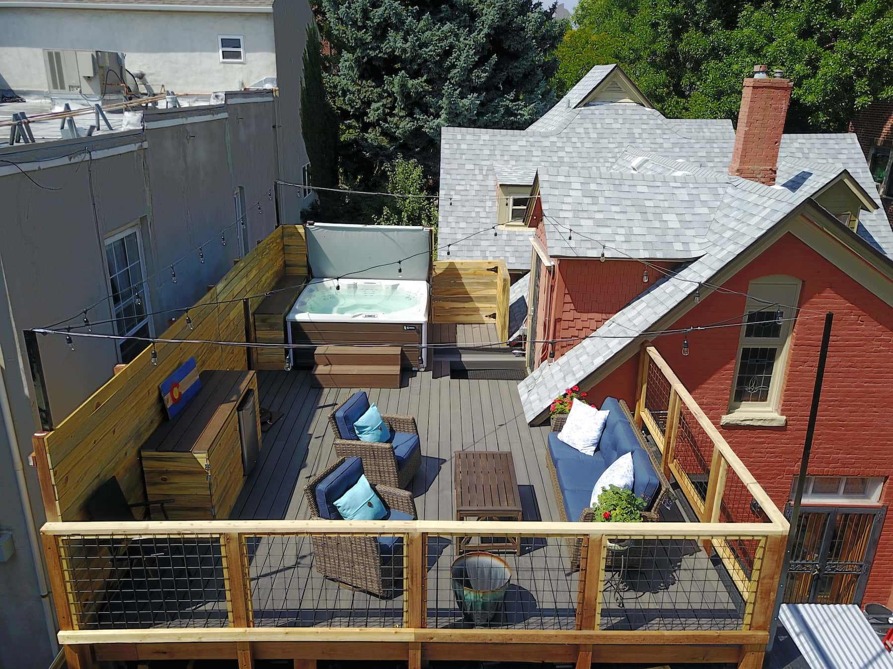 Elevated Deck and Hot Tub