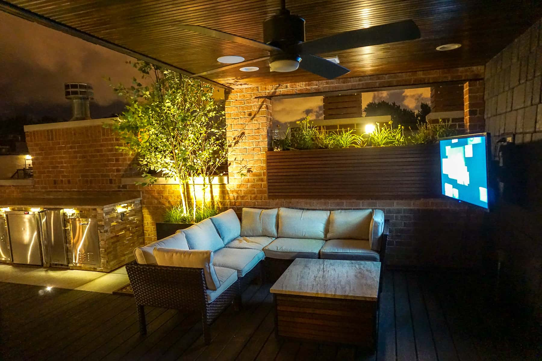 Outdoor Furniture with TV