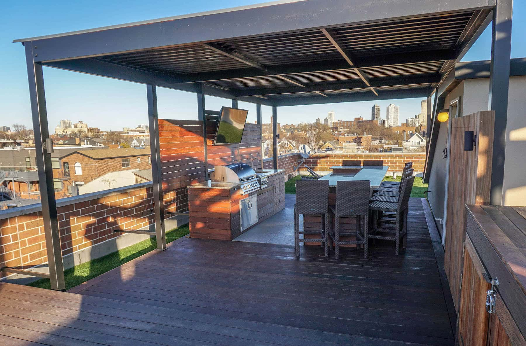 Rooftop Deck With Pergola Denver CO