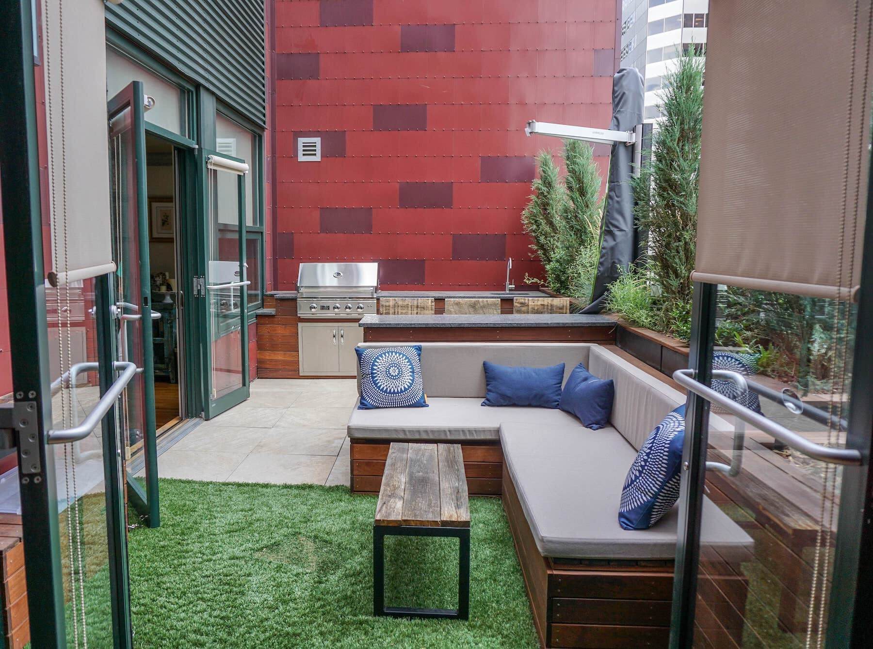 Built-In Furniture Rooftop Deck Outdoor Kitchen Downtown Denver