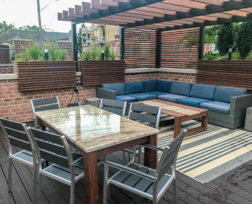 Outdoor Dining and Planters