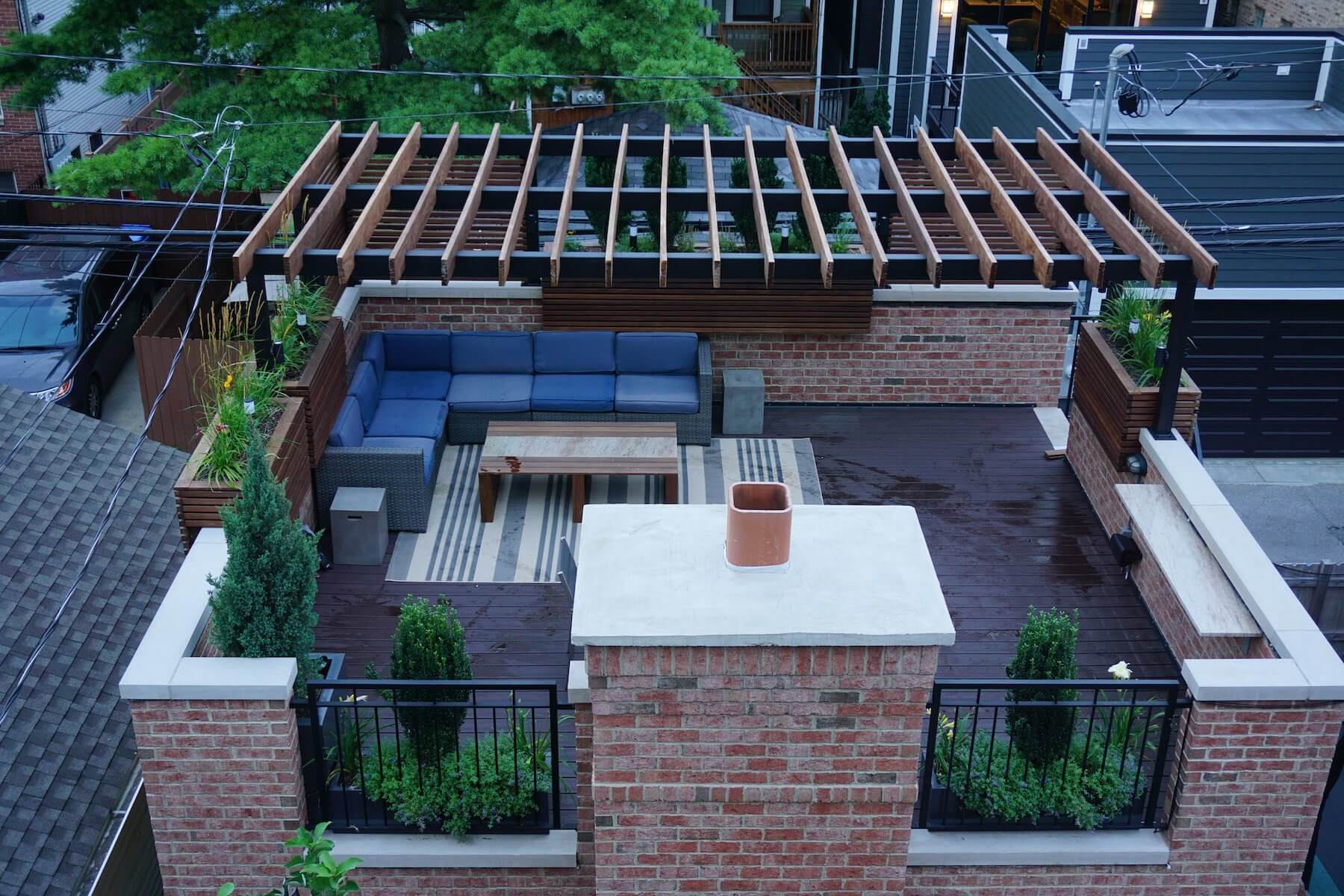 Pergola On Rooftop Deck