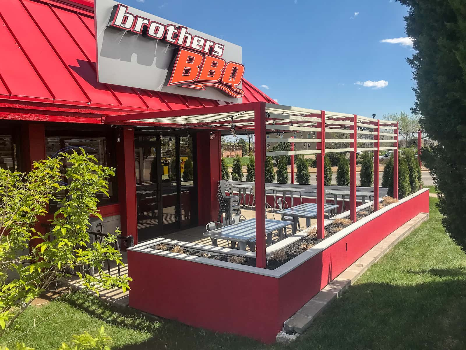 Restaurant Metal Pergola Patio Outdoor Dining Broomfield CO