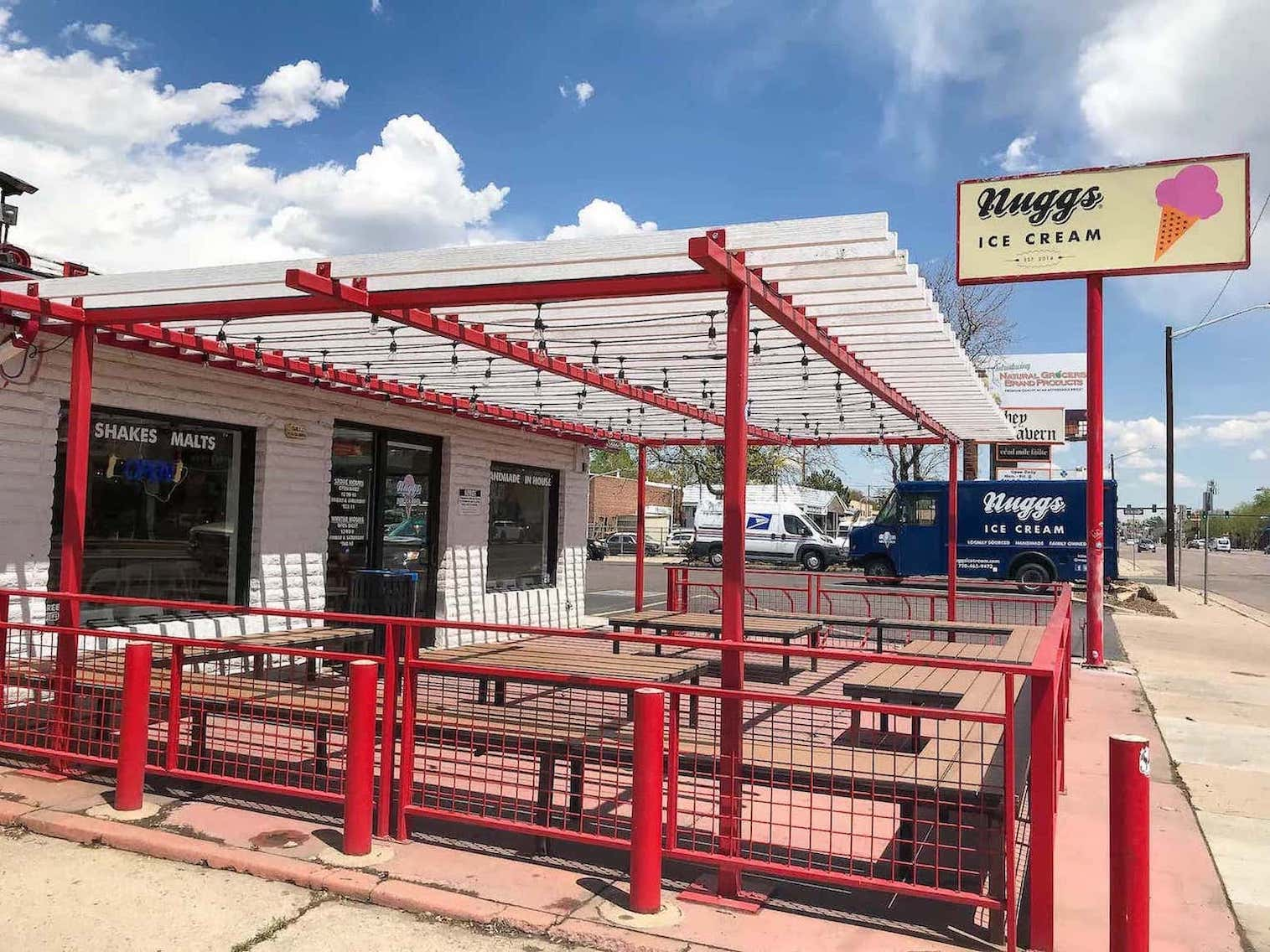 Pergola Railing Posts Outdoor Eating Seating East Denver CO