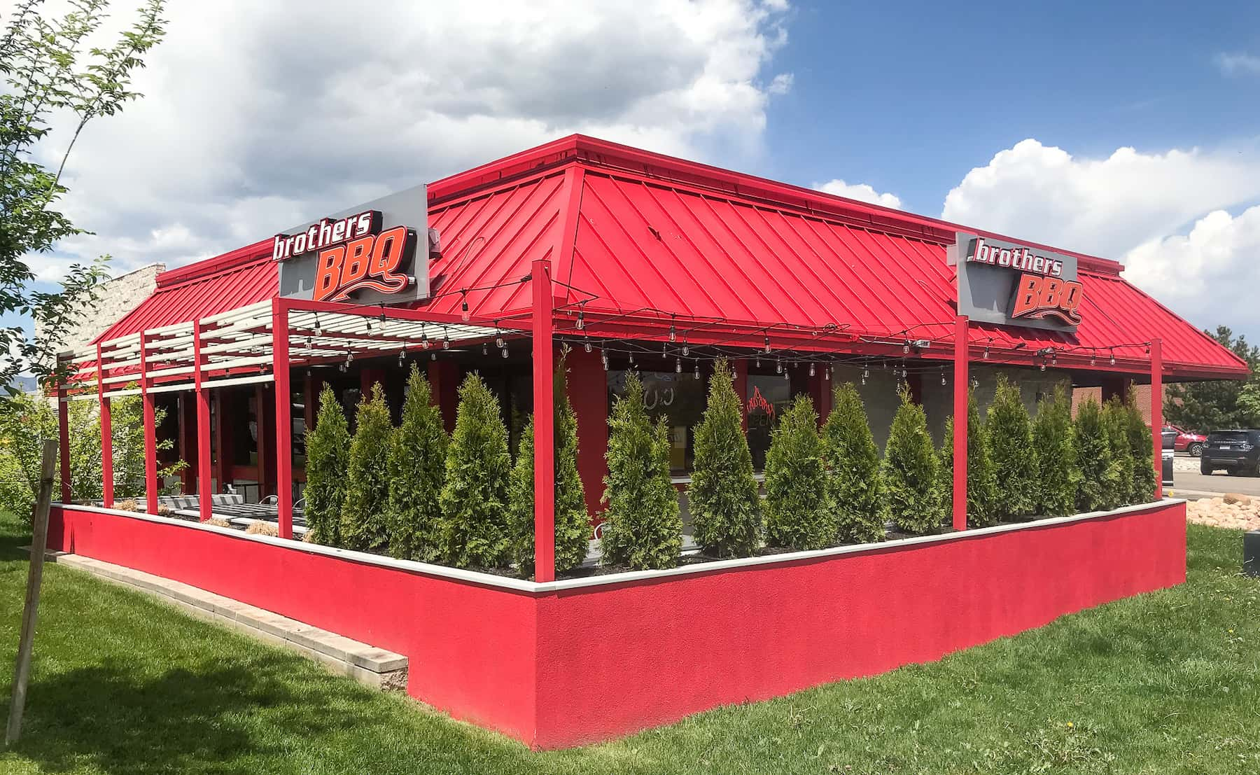 Restaurant Outdoor Privacy Trees Broomfield CO