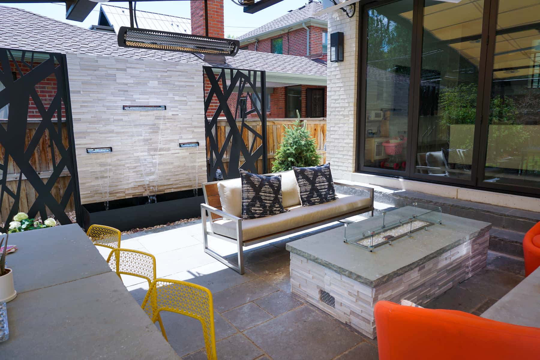 Firepit and Outdoor Seating Paver Patio Bonnie Brae Denver CO