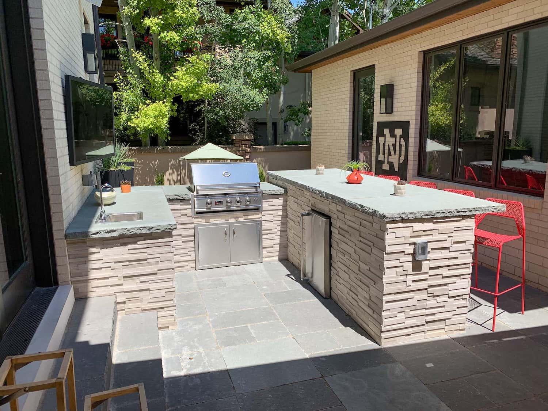 Outdoor Kitchen Paver Patio Bonnie Brae Denver CO