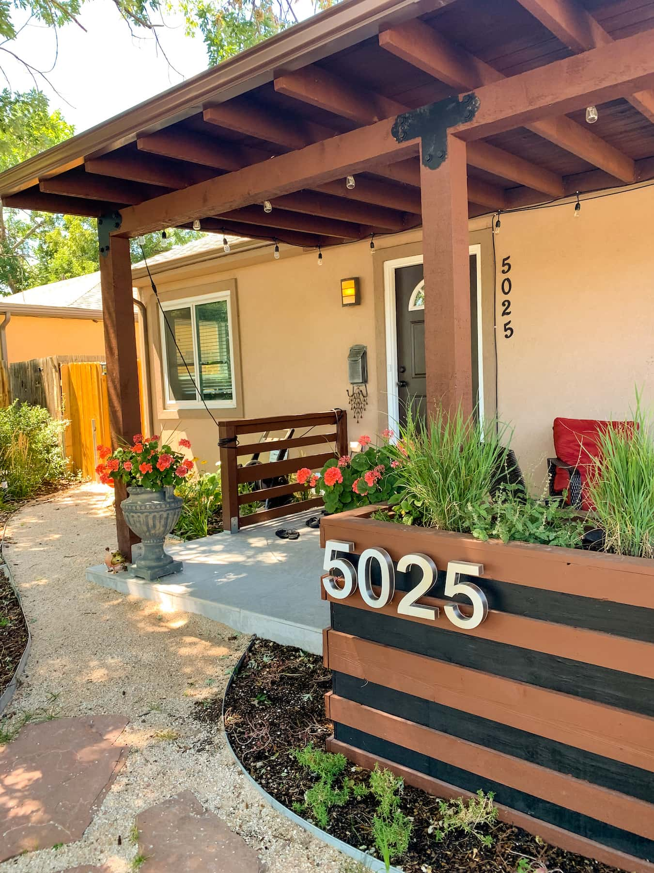 Porch Pergola Planters Sunnyside Denver CO