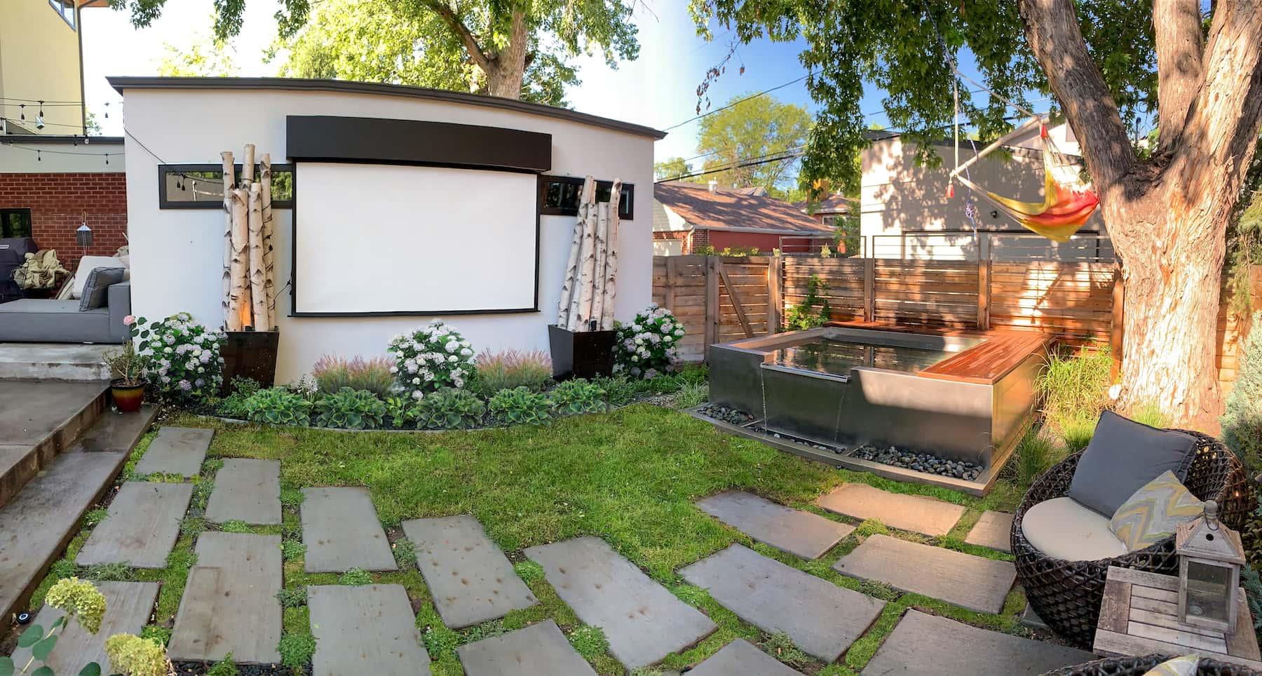 Projector, Pavers & Hot Tub Bonnie Brae Denver CO